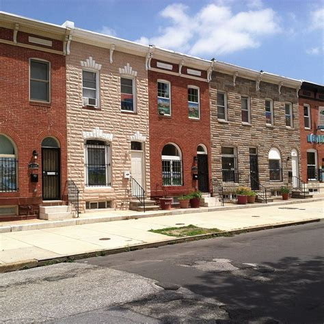 maryland house file row houses in east monument historic district