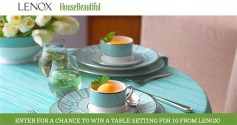 house beautiful sweepstakes house beautiful lenox sweepstakes