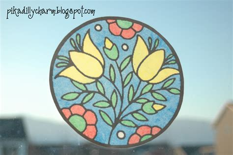 Paper Stained Glass Window Craft - pikadilly charm paper stain glass window