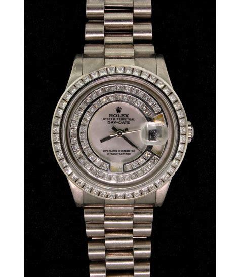 Rolex Diamon Kw rolex mens 18kw rolex o p day date wristwatch w aftmkt