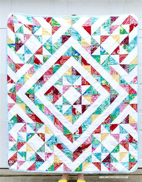 Half Square Triangle Quilts Co Nnect Me Triangulations Template Quilt Pattern