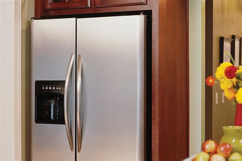 the refrigerator creative kitchen cabinet ideas