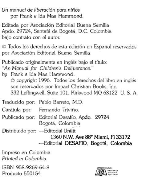 manual de liberacion y 1621368521 mis escritos y reflexiones con dios manual de liberaci 211 n para ni 209 os frank ida mae hammond