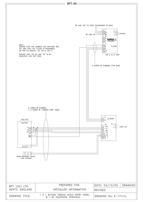bpt wiring diagrams system 200