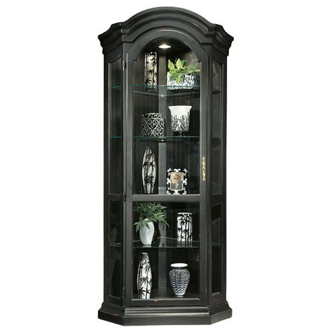 Black Curio Cabinet by Shop Philip Reinisch Company Colortime Pirate Black Corner