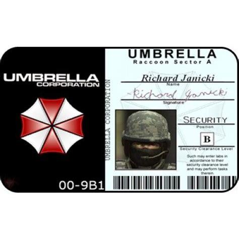 Umbrella Corporation Id Card Template the world s catalog of ideas