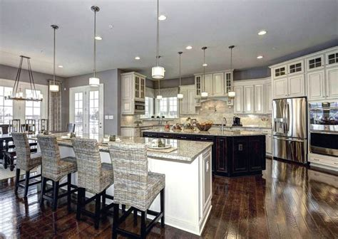 double kitchen island gray double island kitchen design double island kitchen