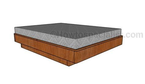 floating platform bed plans floating queen size platform bed plans howtospecialist