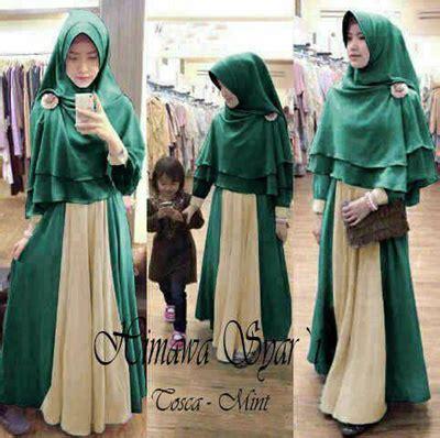Maxi Busui Biru No Pashmina by Grosir Baju Fashion Dan Busana Muslim Wanita