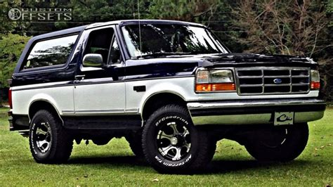 ford bronco rims wheel offset 1994 ford bronco slightly aggressive leveling