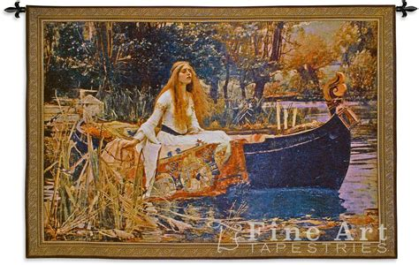 Lion Curtains The Lady Of Shalott Medieval Arthurian Tapestry Wall