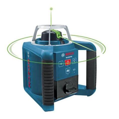 home depot laser level bosch 1000 ft self leveling green beam rotating laser