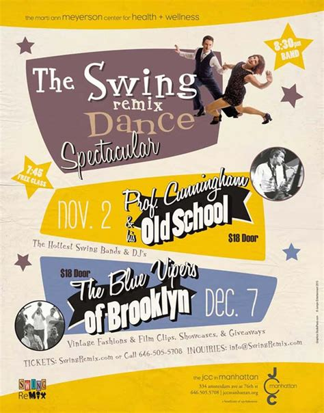 swing dance posters swing remixed dance event details nyc