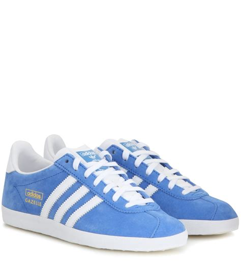 Adidas Gazele Suede lyst adidas originals gazelle og suede sneakers in blue