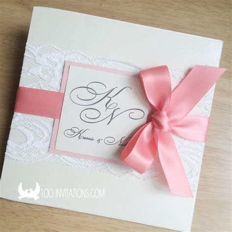 wedding ribbon wedding invitations lace and ribbon wedding invitation ideas