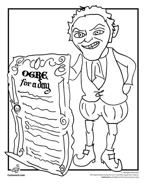 shrek gingy coloring pages coloring pages