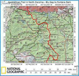 appalachian trail map carolina travel map