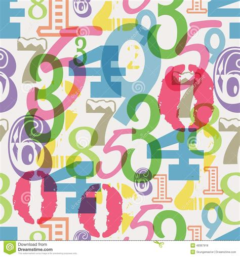 numbers pattern vector seamless numbers pattern stock vector image 49367918