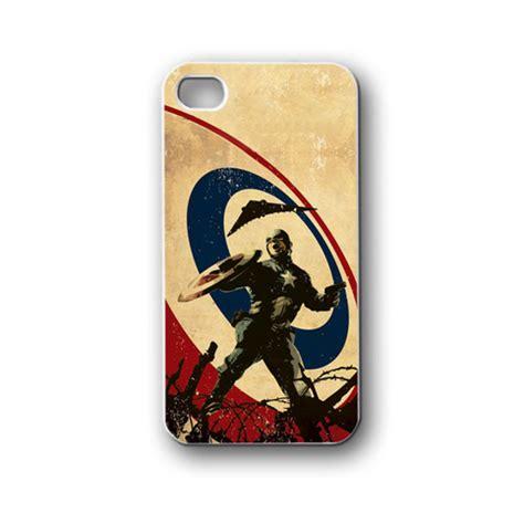 Casing Hp Iphone 4 4s Captain America Custom Hardcase Cover captain america vintage iphone 4 4s 5 5s 5c