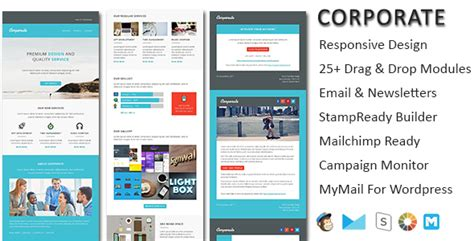 Mymail Newsletter Templates by Corporate Responsive Email Newsletter Templates By