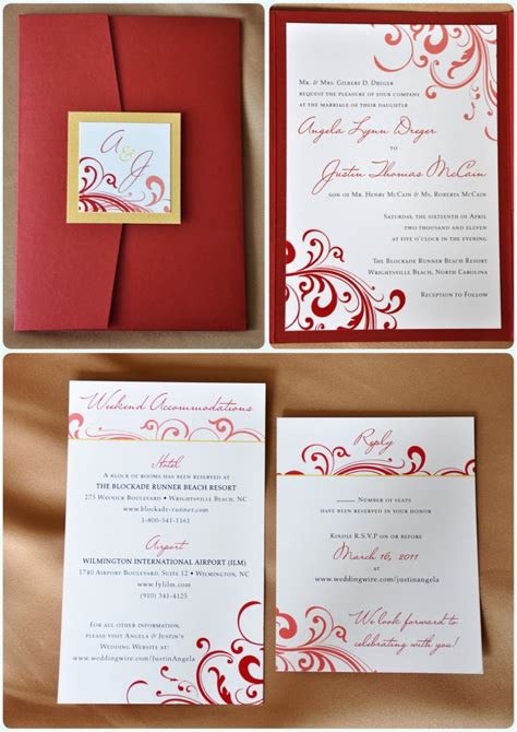 wedding invitation design red 10 breathtaking red and gold wedding invitations to