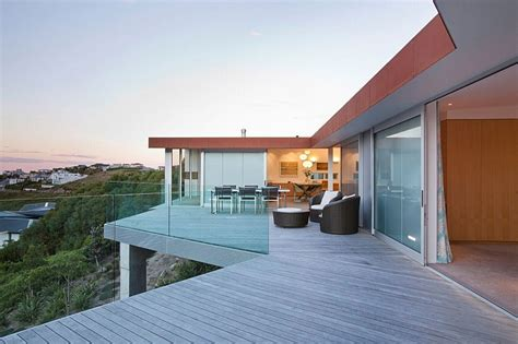 Outdoor Kitchen Roof Ideas Stunning Ocean Views And An Open Interior Define The