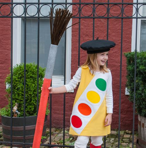 pattern for artist beret kid s halloween costume watercolor paint box with french