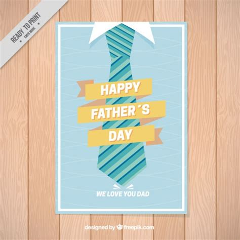 fathers day posters s day poster with a tie vector free