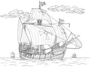 coloring pages of the nina pinta and santa maria pinta santa maria coloring page supercoloring com