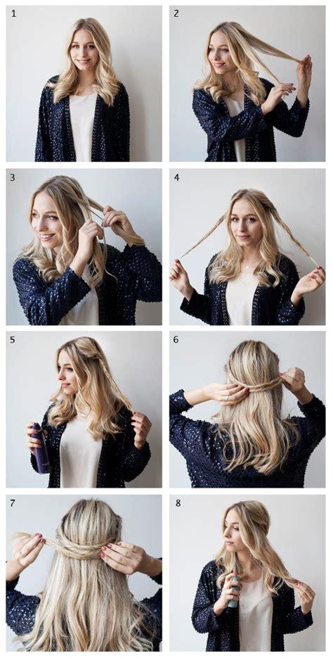 braid headband hairstyles tutorial hair tutorial for medium long hair coiffure facile a faire