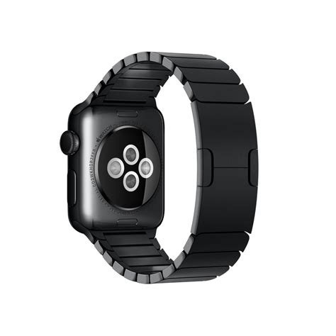 Apple Space Black Stainless Steel Wth Space Black Milanese 42mm apple 38mm space black with space black stainless steel link bracelet in black lyst