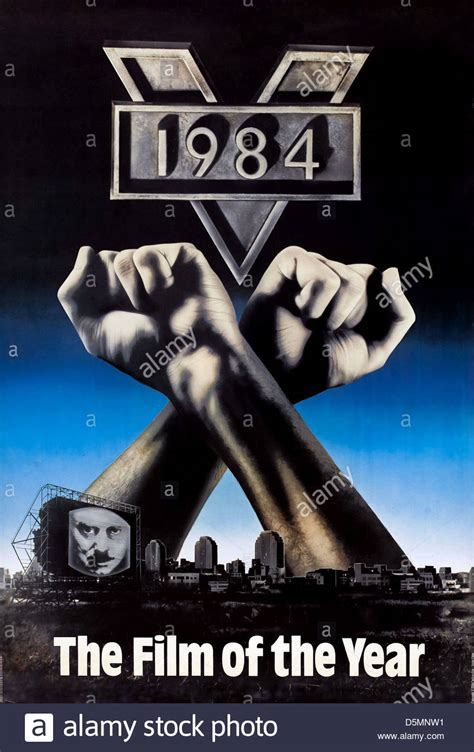 1984 nineteen eighty four movie poster 1984 nineteen eighty four 1984 stock photo