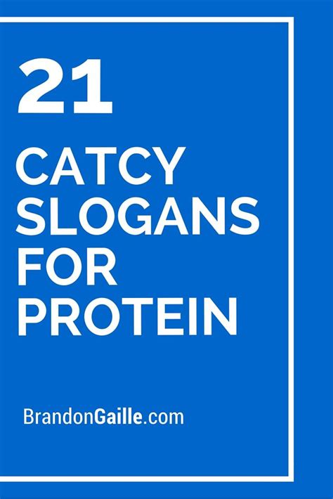 protein 21 shoo 21 catcy slogans for protein