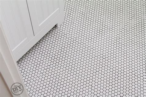 penny tiles:  tiles also bathroom countertop materials and installing penny tile