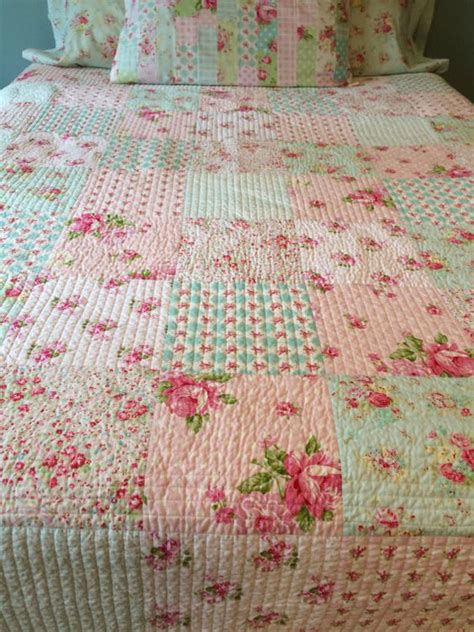 shabby chic quilt made to order tanya whelan quilt