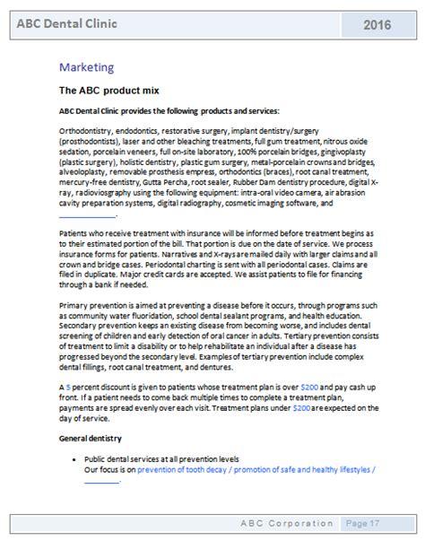 template for pharmacy business plan dental clinic business plan template business plan templates