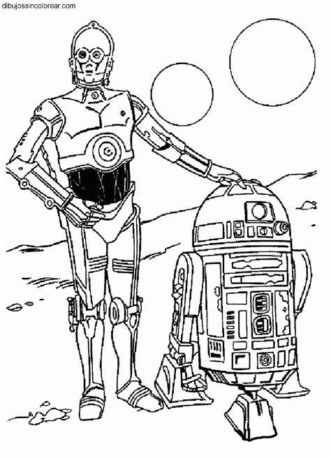 imagenes para colorear star wars dibujos de r2d2 arturito y c3po citripio star wars