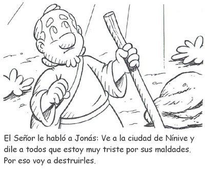 imagenes biblicas de jonas historia b 237 blica de jon 225 s para colorear recursos para la
