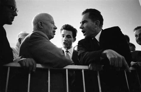 Kitchen Debate Between Nixon And Khrushchev by Richard Nixon And Khruschev S Kitchen Debate Pepsi