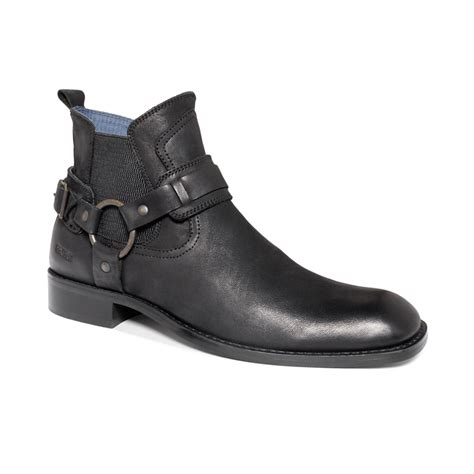 kenneth cole boots mens kenneth cole reaction east wing harness boots in black for