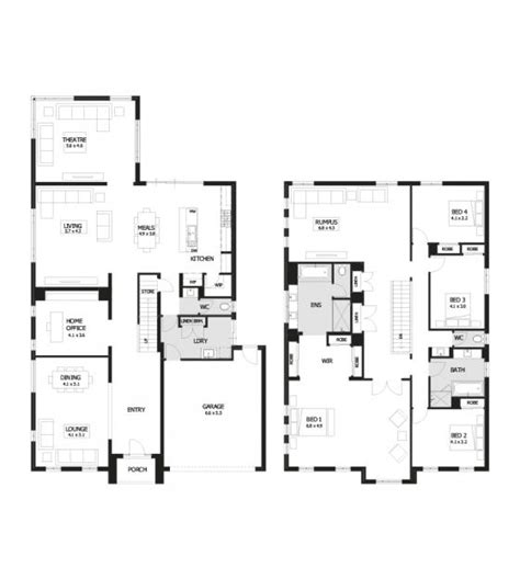 four bedroom double storey house plan residence 46 double storey home design 4 bedroom 2