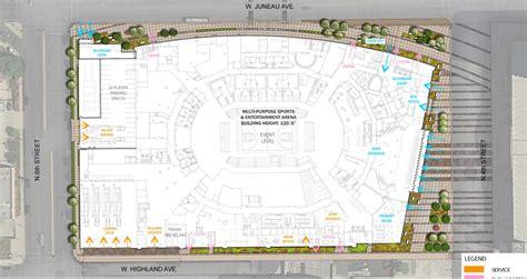 Wells Fargo Center Floor Plan Groundbreaking Set For New Milwaukee Bucks Arena Arena