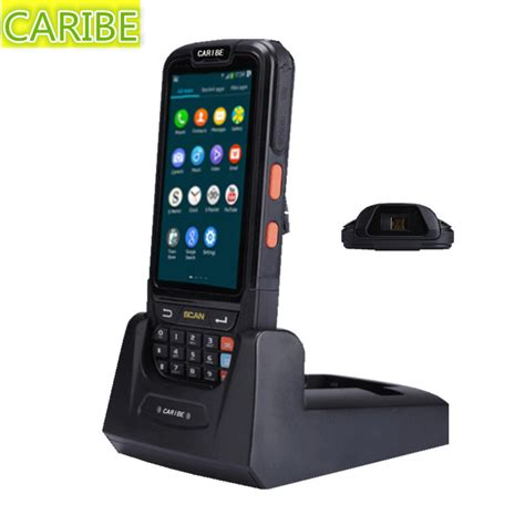 rugged handheld pda caribe pl 40l ip65 rugged handheld pda android laser wifi wireless 1d bar code reader in