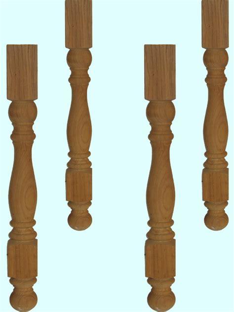 pieds de tables en bois