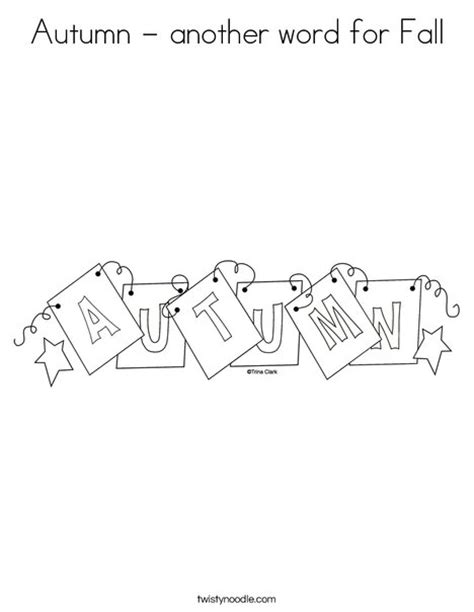 another word for autumn another word for fall coloring page twisty noodle