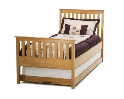 cherry wood bed frame serene grace 3ft single cherry wooden guest bed frame with