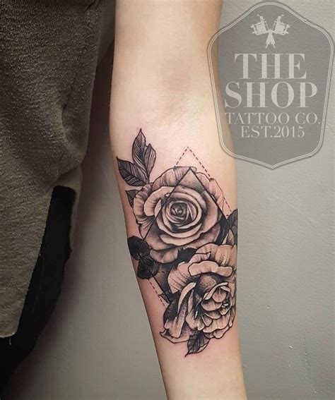 best rose tattoos the shop co best shop in toronto geometrical