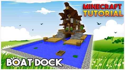 minecraft boat house minecraft boat house tutorial fishing dock boat dock