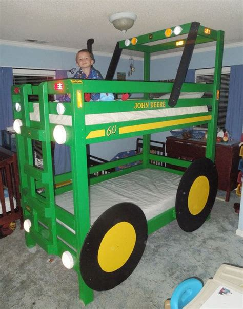 john deere bunk bed billy s tractor bunk beds for the grandkids