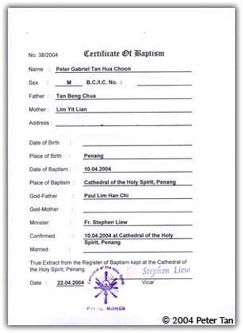 catholic baptismal certificate new calendar template site
